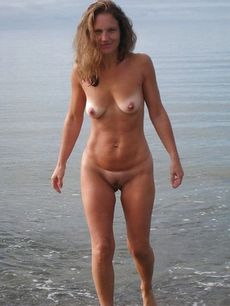 Hot milf out on the beach.