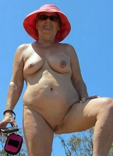 Naked granny with big nipples..