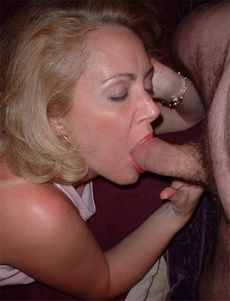Hard sucking mature lady fondling..