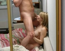Pregnant wife sucking husband's..